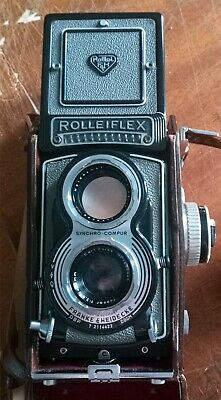 View Details Rolleiflex T Twin Lens Reflex Camera TLR & Ever Ready Case GREY • 495.00£