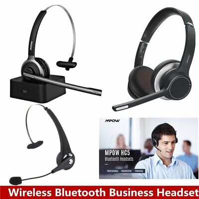 £31.29 • Buy Pro Wireless Bluetooth Headset Over Ear Headphones Driver Trucker Call Center PC