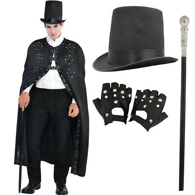 £18.99 • Buy Mens Steampunk Costume Victorian Cape Halloween Dark Ringmaster Magician Outfit