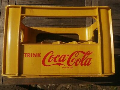 Vintage Yellow 24 Bottle Coca-Cola Crate • 34.99£