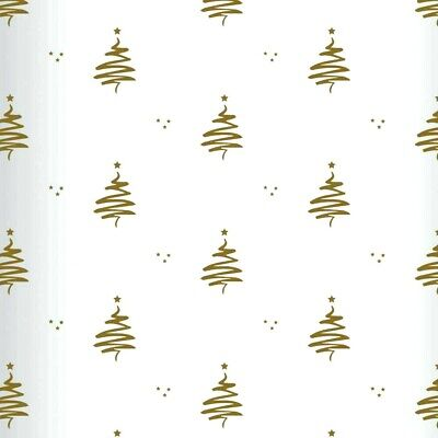 80cm Wide Gold Squiggle Tree Cellophane Film Christmas Florist Gift Wrap X-MAS • 4.99£