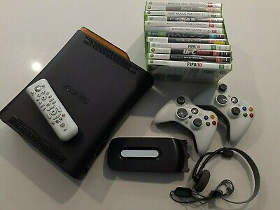 AU150 • Buy Microsoft Xbox 360 140GB Console + 13 Games + 2 Controllers + More