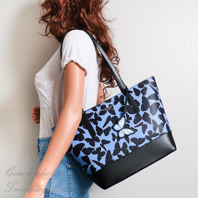 $ CDN146.61 • Buy NWT Kate Spade Adley Butterfly Large Tote Shoulder Bag In Blue Black Leather