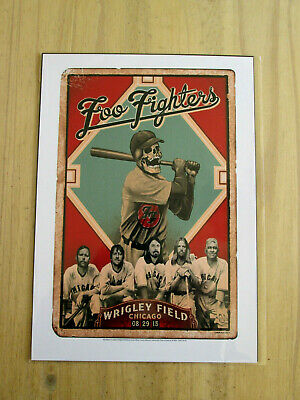 Foo Fighters : Wrigley Field Chicago  : A4 Glossy Reproduction Poster • 3.99£