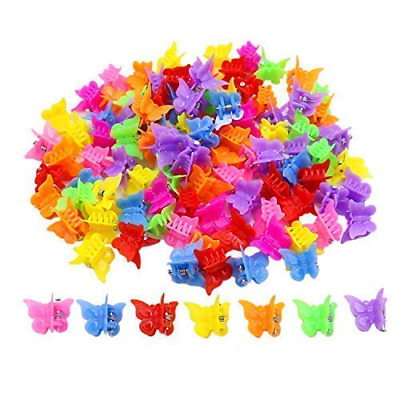 $8.68 • Buy 100 Pack Butterfly Hair Clips For Girls And Women, Beautiful Bulk Small Mini