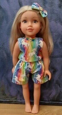 18 Inch American Girl Our Generation Rainbow Unicorn 3 Piece Outfit Doll Clothes • 7.49£