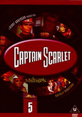 Captain Scarlet And The Mysterons: 5 DVD (2001) Ken Turner Cert U Amazing Value • 3.48£