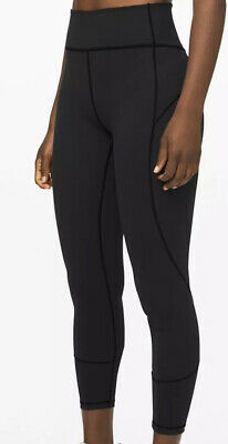 $ CDN120.60 • Buy Lululemon In Movement Tight 25  Size 12 Black Leggings Crops NEW WITH TAGS!