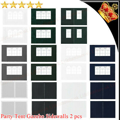 2x Party Tent Sidewall Garden Gazebo Marquee Side Wall Panel Outdoor Party Decor • 15.49£