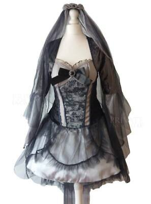 New Zombie Bride Ghost Halloween Fancy Dress Gothic Wedding Costume 14 Last One • 17.99£