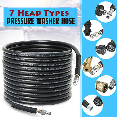 AU49.99 • Buy □2M-30M High Pressure Washer Cleaning Drain Sewer Hose 3/8'' 1/4'' For KARCHER