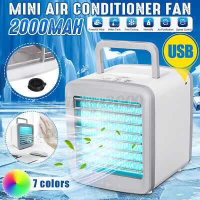 AU36.64 • Buy USB Mini Air Conditioning Fan Cooler Cooling System Humidification W/ LED  ❤