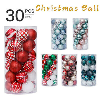 30PCS 6cm Mixed Christmas Balls Baubles Xmas Tree Ornament Christmas Home Decor • 11.39£