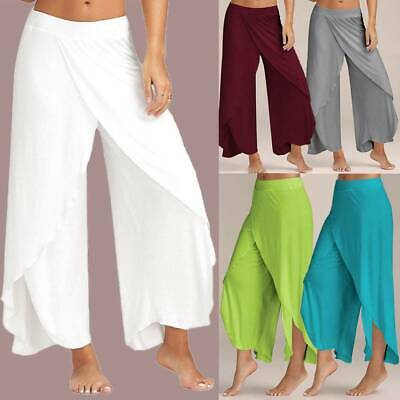 AU29.49 • Buy Women Baggy Harem Pants Yoga Gym Sport Hippie Boho Gypsy Loose Palazzo Trousers