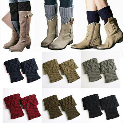 £5.59 • Buy Ladies Short Leg Warmers Crochet Cuffs Ankle Toppers Knitted Trim Boot Socks UK