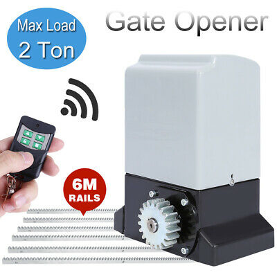 Automatic Motor Remote Electric Gate Opener Kit Sliding Door With 6 Rail Rack • 162.99£
