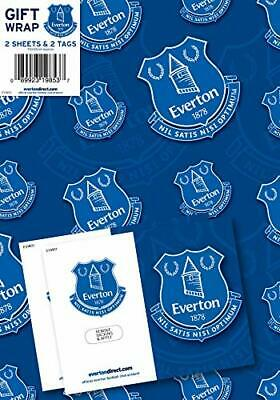 £2.49 • Buy Everton Football Club Gift Wrapping Paper 2 Sheets 2 Tags NEW