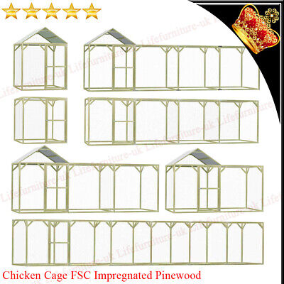£398.39 • Buy Chicken Coop Run Pet Cage For Hens Dogs Poultry Rabbit Ducks Goose Small Animal