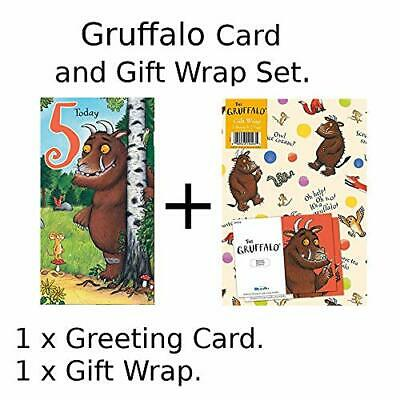 £3.99 • Buy Card And Gift Wrap Pack - Hey Gruffalo Age 5 Birthday Card NEW