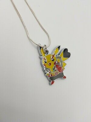 New Pokemon Cosplay Rock Pikachu Necklace Gamer Gift Anime Cosplay • 2£