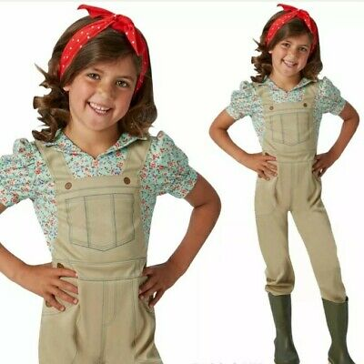 £10 • Buy Childs Fancy Dress Size 3-4yrs - WW2 Girls Land Girl Costume/Wartime Outfit-NEW