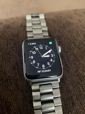 $ CDN174.27 • Buy Apple Watch Series 3 42mm GPS + Cellular Stainless Steel Band