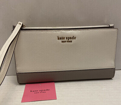 $ CDN78.39 • Buy Kate Spade Parchmetm Spencer Continental Wallet Wristlet NWT $128