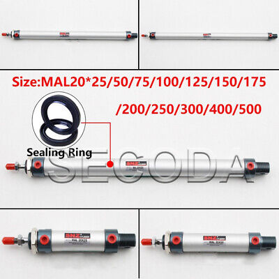 Magnetic MAL20 Series Single Rod Double Acting Mini Pneumatic Air Cylinder MAL • 9.59£