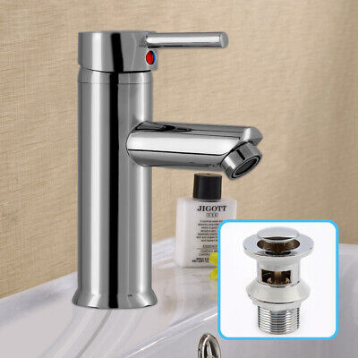 £11.69 • Buy Cloakroom Luxury Bathroom Modern Basin Sink Chrome Mono Mixer Tap With 2 Hoses