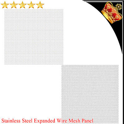 Heavy Duty Stainless Steel Expanded Wire Fence Mesh Panel Multi Mesh Sizes • 50.39£