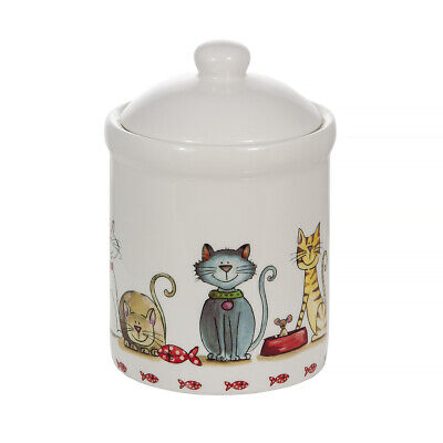 Food Storage Jar Kitchen Container Cat Treat Jar With Lid Ceramic And Airtight  • 14.99£