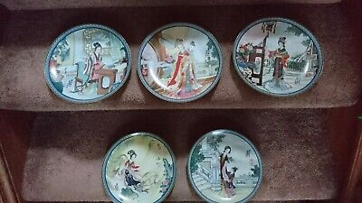 BEAUTIES OF THE RED MANSION Imperial Jingdezhen Porcelain Plates X 5 • 35£