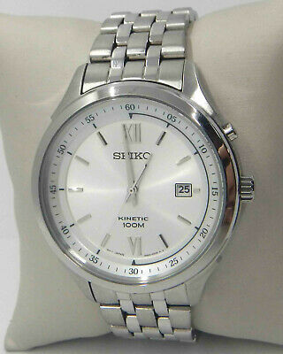 $ CDN93.85 • Buy Seiko Kinetic Silver Dial Stainless Steel Men's Watch Ska653 $340.00