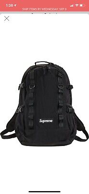 $ CDN274.85 • Buy Supreme FW20 Black Backpack Brand New 100% Authentic