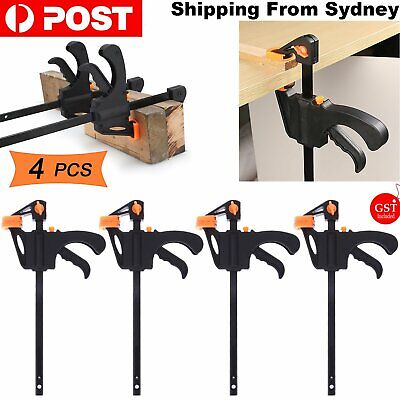 AU11.99 • Buy 4 Pcs Woodworking Clip Bar Clamp F-tyle Grip Quick Ratchet Release Squeeze Tools