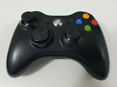 AU26.50 • Buy Microsoft Xbox 360 Wireless Controller - No Battery Cover - Black