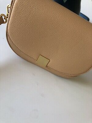 AU75 • Buy NEW OROTON Caramel Leather Voyage Saddle Side Bag Mini New With Tags RRP$349