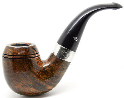 AU199.15 • Buy Peterson Sherlock Holmes Dark 9mm Filter Baskerville Sterling Silver Mount Pipe
