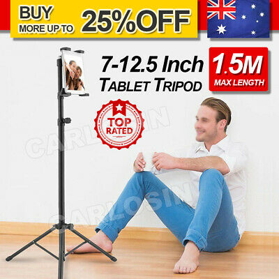 AU23.95 • Buy OZ Protable Floor Tablet Music Tripod Stand Holder Carrying For IPad 7-12.5 Inch