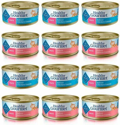 Blue Buffalo Healthy Gourmet Variety Pack Adult Pate Wet Cat Food 12-5.5 Oz Can • 25.74£