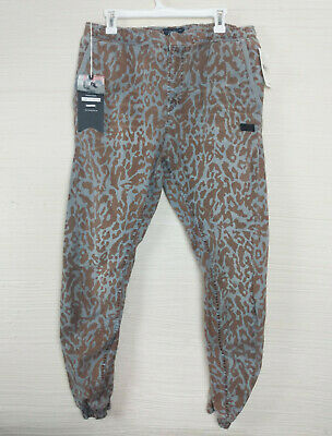 NWT PRPS Goods & Co Jeans Grey Animal Print Joggers Waist Size 32 E74P24L • 36.17£