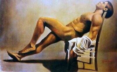 Male Nude Oil Painting • 220£