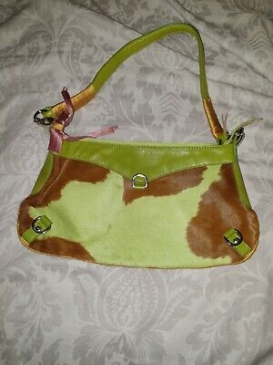 Russell & Bromley Green Cow Print Bag • 10£