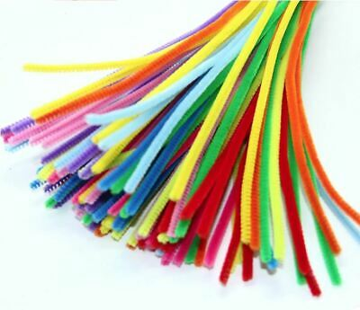 Chenille Craft Stems Pipe Cleaners 30cm 12  Kids Art - All Colours & Pack Size • 1.49£