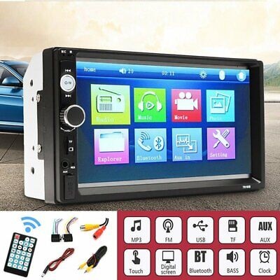7  Car Stereo Bluetooth Radio MP5 MP3 Player Double DIN Touch Screen FM USB AUX • 35.59£