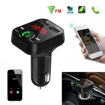 In-Car Bluetooth FM Transmitter Radio MP3 Wireless Adapter Car Kit 2 USB Charger • 7.68£