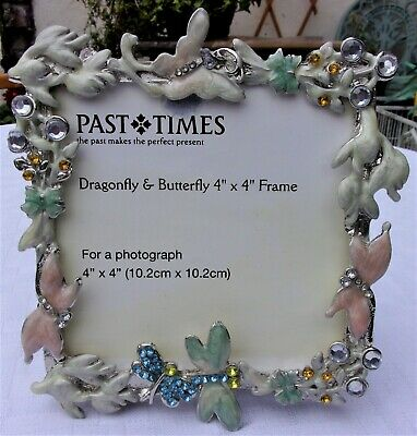 Past Times Photo Frame ~ Art Nouveau Rococo Inspired Dragonfly Butterfly Jewels • 19.99£