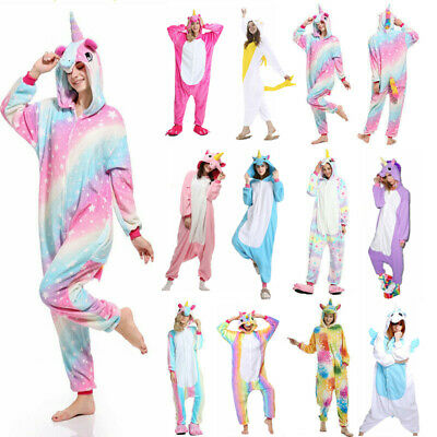 Animal Pajamas Kigurumi Cosplay Pyjama Adult Costumes Onesie17 Jumpsuit Outfit • 14.98£