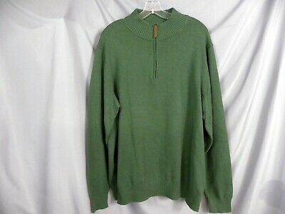 $14.95 • Buy Duluth Trading Sweater XL Mock High Neck Infantry Military Green 1/4 Zipper