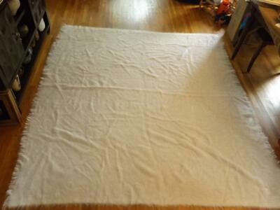 AU584.01 • Buy Yves Delorme 100% Mohair Beige Queen Blanket France 98x88  Mint Condition